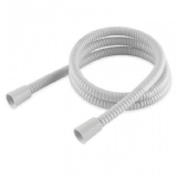 White Plastic Coated Shower Hose Large Bore 1.25 Metre - 50600411